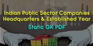 Important Government and Public Sector Organisations of india PDF