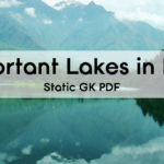 Important Lakes in India PDF