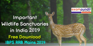 Wildlife Sanctuaries in India PDF 2019