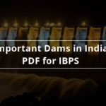 Important Dams In India Pdf