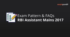 RBI Assistant Mains 2017