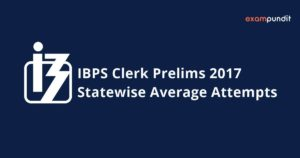 Statewise Average Attempts in IBPS Clerk Prelims 2017