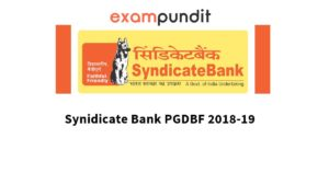 Syndicate Bank PGDBF