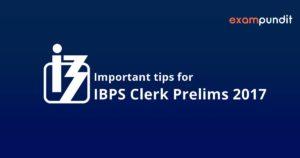 ibps clerk prelims 2017