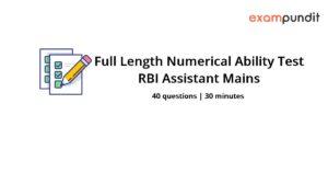 Numerical Ability Sectional Test