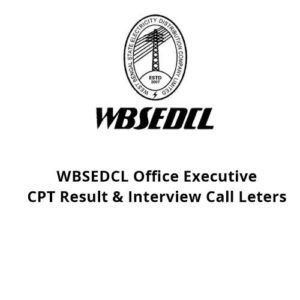 WBSEDCL Office Executive 2017