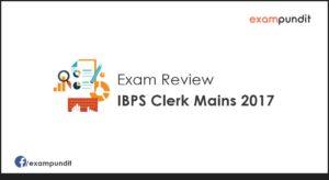 IBPS Clerk Mains 2017