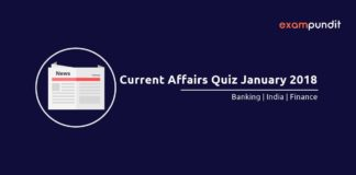 Current Affairs Quiz - January 2018