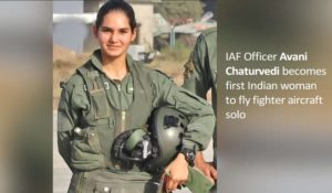 IAF Officer Avani Chaturvedi becomes first Indian woman to fly fighter aircraft solo