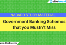 7 Most Important Banking Schemes to Remember for NABARD 2018 Exam