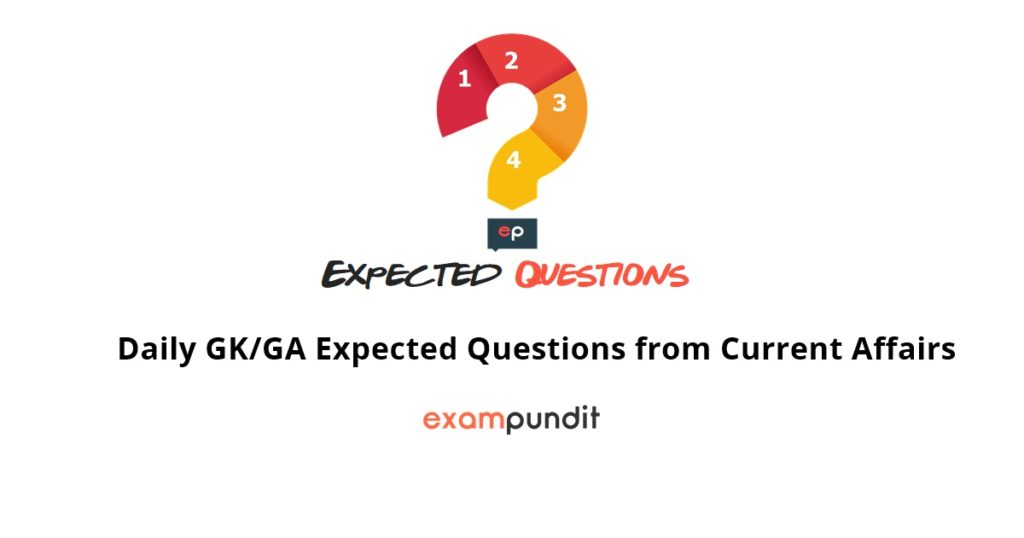 Daily GK/GA Expected Questions from Current Affairs - 3 April 2018