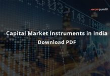 Capital Market Instruments in India