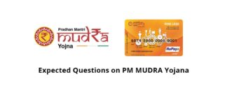 Expected Questions on PM MUDRA Yojana
