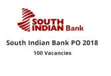 South Indian Bank PO 2018 Recruitment