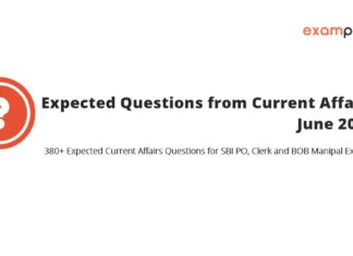 Expected Current Affairs Questions June 2018 PDF