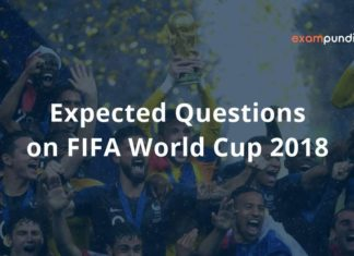 Expected Questions on FIFA World Cup 2018