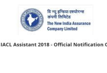 NIACL Assistant 2018