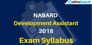 Detailed Syllabus for NABARD Development Assistant 2018