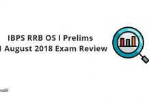 IBPS RRB OS I Prelims 11 August 2018 Exam Review