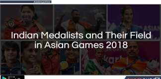 Indian Medalists and Their Field in Asian Games 2018