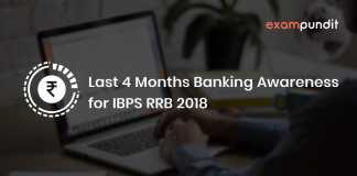 Last 4 Months Banking Awareness for IBPS RRB 2018