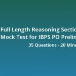 Full Reasoning Sectional Mock Test for IBPS PO Prelims 2018