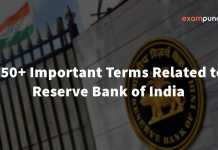 Important Terms Related to RBI PDF