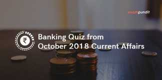 Banking Quiz from October 2018 Current Affairs