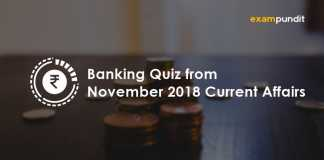 Banking Quiz from November 2018 Current Affairs