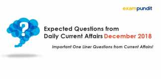 Expected Questions December 2018