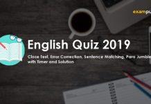 English Quiz 2019