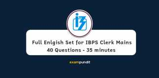 Full Length English Sectional Test - IBPS Clerk Mains