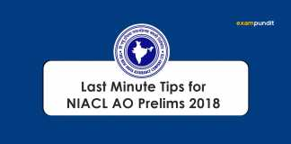 Last Minute Tips for NIACL AO Prelims 2018