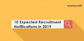 10 Expected Recruitment Notifications in 2019