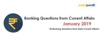Banking Questions from January 2019 Current Affairs
