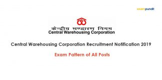 CWC Recruitment 2019 Exam Patterns of All Posts