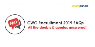 CWC Recruitment 2019 FAQs