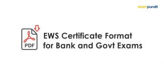 EWS Certificate Format for Bank and Govt Exams