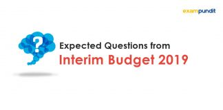 Expected Questions from Interim Budget 2019