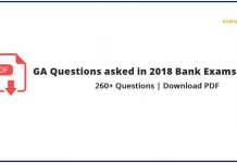GA Questions asked in 2018 Bank Exams