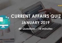 January 2019 Current Affairs Quiz