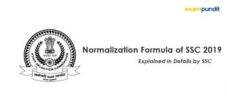 Normalization Formula of SSC 2019