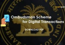 Ombudsman Scheme for Digital Transactions