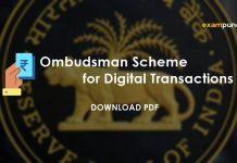 Ombudsman Scheme for Digital Transactions