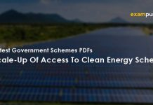 Scale-Up Of Access To Clean Energy Scheme