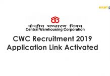 CWC Recruitment 2019 Application Link