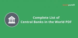 All Centrals Banks in the World