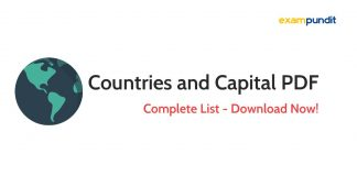 Complete Countries and Capital PDF