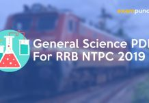 General Science PDF for RRB NTPC 2019