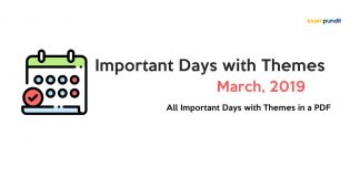 Important Days with Themes March 2019